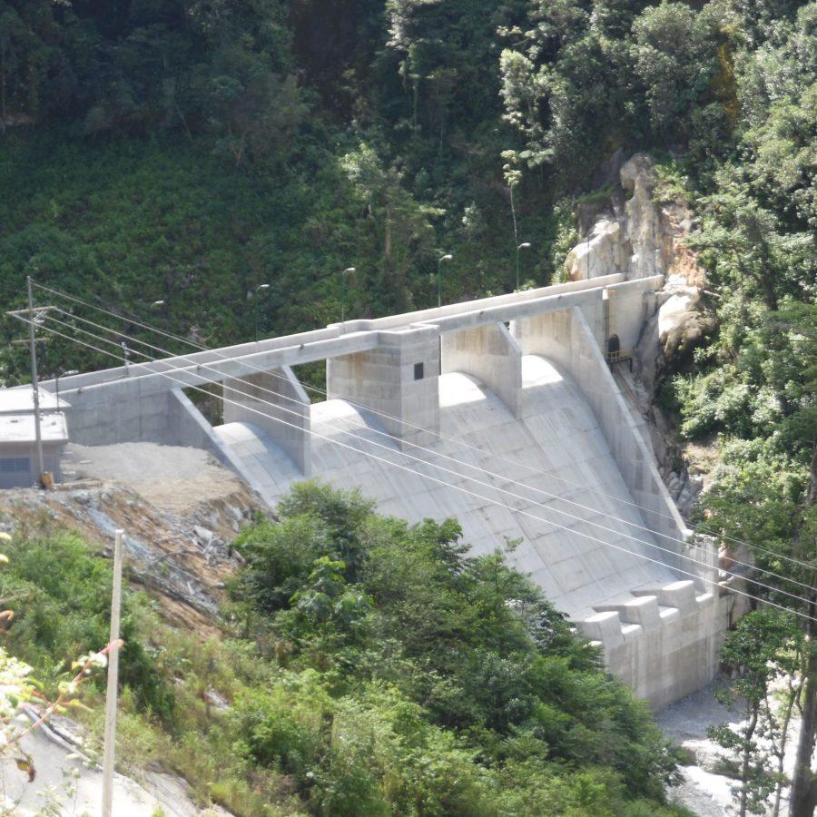 Presa 41.5 metros Proyecto Hidroeléctrico Ojo de Agua