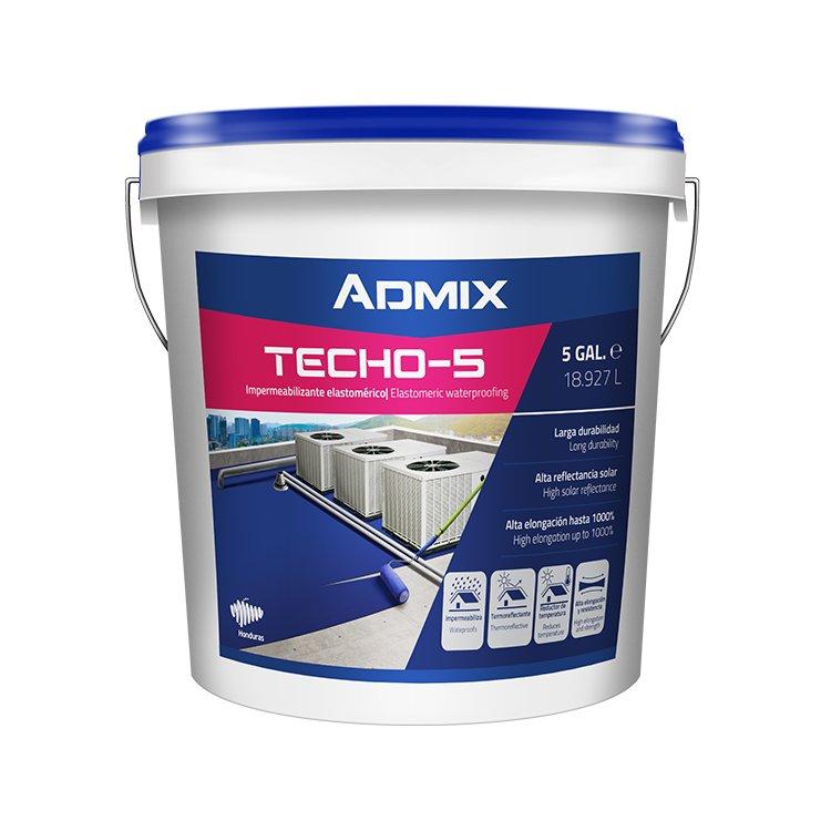 Cubeta 5 Galones Admix Techo 5 Años