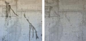 Microfisura de concreto con aditivo Admix K Integral+, 1 metro debajo del nivel freático, se autoselló en 11 días.